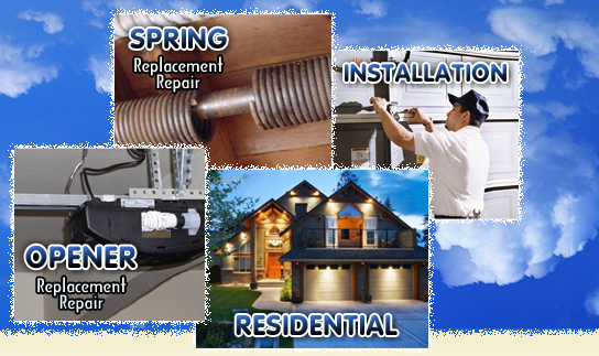 ... Garage Door Residential, Spring, Opener And Installation Services